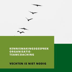 Kennismakingsgesprek Organisatie-teamcoaching